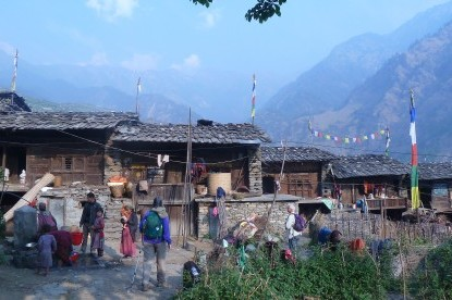 Gatlang which is the famous Tamang village in the Trek.