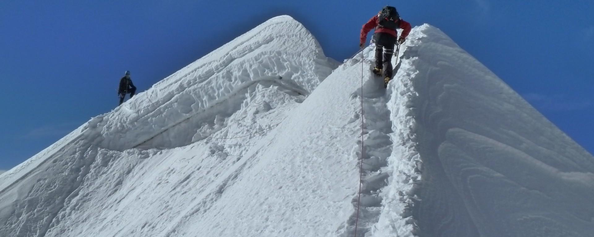 Summit of Tent Peak climbing