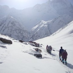 Trekking to the Annapurna Base Camp